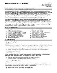 public relations resume example public relations professional resume