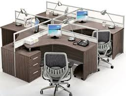 office workstation design. classic design walnut wooden and glass lshaped office partitionoffice workstationstaff table clerk tablecomputer desk with fixed pedestal hxnd5068 workstation