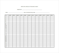 Employee Attendance Sheet 2018 8 Free Excel Pdf Template Section