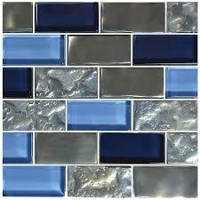 titanium blue 1 x 2 glossy iridescent glass pool tile