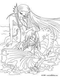 Small Picture Coloring Pages Kids Legendary Mermaid Coloring Pages Mermaids