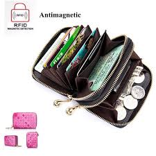 bagail rfid genuine leather card holders credit card wallet leather coin purse