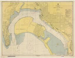 San Diego Bay Northern Part Map 1948