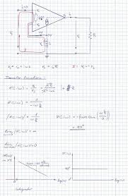 amplifier large size op amp transfer function and bode plot of an circuit solution