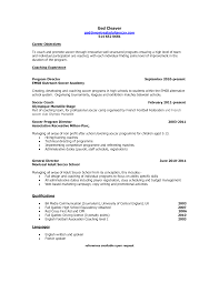 soccer coach resume objective job and resume template soccer coach resume objective