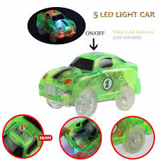 Led Light Toy Car Led Light Up Cars For Tracks Electronics Car Toys With Flashing Lights Fancy Diy Toy Cars For Kid Tracks Parts Car For Children