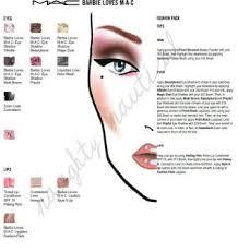 300 Mac Pro Cosmetics Face Charts Chart Halloween