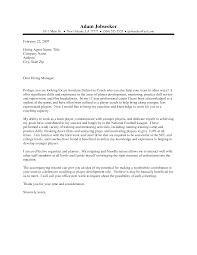 Sample Coaching Cover Letter Haadyaooverbayresort Com