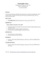 Awards Resume Awards Sample Resume High School Resume Template High