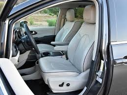 heated ventilated and facing a heated steering wheel the pacifica limited s leather wrapped front seats are quite comfortable