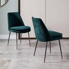 west elm finley low back velvet dining chair