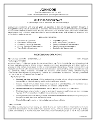 Epic Example Of A Oilfield Consultant Resume Sample Oil Field