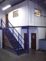 office mezzanine floor. Mezzanine Floor With Staircase And Office Partitioning