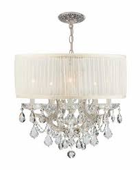 unique drum chandelier with crystals thejots net of shade