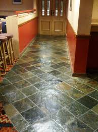 slate floor after tile cleaning and sealing