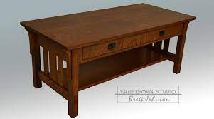craftsman style coffee table arts and