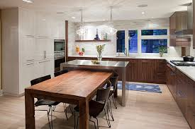 Kitchens:Custom Kitchen Decor With L Shaped Wood Kitchen Counter Also Stainless  Steel Kitchen Island