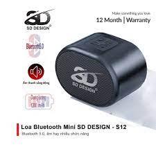Loa Bluetooth Mini S12 Không Dây Chính Hãng SD Design Nghe Nhạc Hay Âm Thanh  Chất Lượng Hỗ Trợ Cắm Thẻ Nhớ Và Usb - Loa Bluetooth