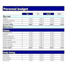 simple personal budget spreadsheet - April.onthemarch.co