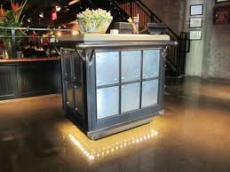 restaurant table top lighting. Hostess Stand Raw Steel Base With Concrete Top Restaurant Table Lighting