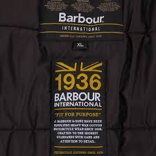 barbour international winter sprocket leather jacket black