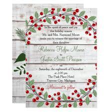 christmas wedding invitations & announcements zazzle Wedding Invitations Christmas holiday charm winter christmas wedding invitation wedding invitations christian