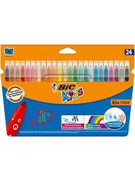 <b>Цветные фломастеры</b>, 24 цвета, детские, смываемые, среднее ...
