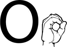 Disegno Di Linguaggio Dei Segni Asl Lettera O Da Colorare Disegni