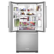 Kitchen Aid French Door Kitchenaid 33 In W 221 Cu Ft French Door Refrigerator In