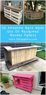 Wooden Pallet Bars: 35 Awesome ideas For Inspiration!