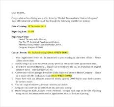 Offer Letter Email Template Best Job Joining Offer Letter Template ...
