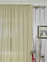 QYK246SBE Eos Linen Gray Black Solid Rod Pocket Sheer Curtains (Color:  Eggshell) QYK246SBE Eos Linen Gray Black Solid Rod Pocket Sheer Curtains  (Color: ...