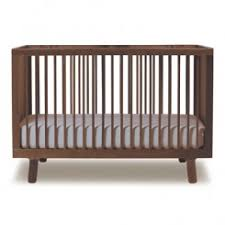 free mattress with oeuf sparrow crib walnut baby modern furniture