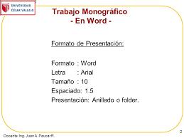 formato de informe en word trabajo de investigacin informe final pautas ppt video formato de