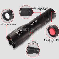 Đèn pin siêu sáng XML-T6 chất liệu cao cấp, thiết kế nhỏ gọn, tiện dụng,  tầm chiếu sáng rộng - Đèn pin