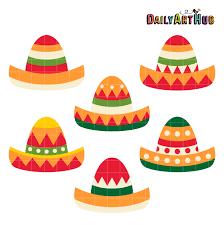 Cinco De Mayo Hats Clip Art Set – Daily ...