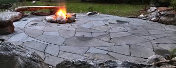 indian run landscaping natural flagstone patio with fire pit indian run landscaping