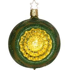 Spiegel Reflex ø 8cm Fairy Reflections Inge Glas Weihnachtskugeln Lodengrün