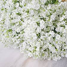 bringsine baby breath gypsophila wedding decoration white colour real touch artificial flowers 30 pieces