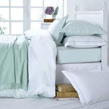 mint green gingham bed linen mint gingham duvet cover