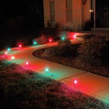 Red Solar Pathway Lights Lumabase Red And Green Pathway Lights 10 Count