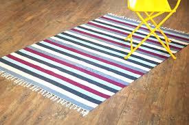 flat weave cotton rug reversible chenille handmade striped blue grey white stripes furniture della runner