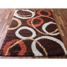 brown and orange area rug brown contemporary circles gy area rug unique orange beige ivory circles multi pattern abstract rug red orange and brown