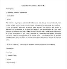 An Example Of A Recommendation Letter Under Fontanacountryinn Com