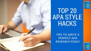 Apa Research Essay Apa Style Research Paper Format Review Of Model Apa Research Paper