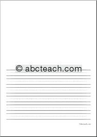 Kindergarten Writing Paper With Picture Box Kindergarten