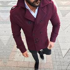 2018 british style winter coat men 2018 brand new double ted trench coat mens slim fit striped overcoat jackets manteau homme from junxcj