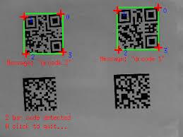 qr detect visual servoing platform tutorial bar code detection