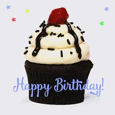animated birthday cupcakes.  Animated Happy Birthday Cupcake Animated Gif In Animated Birthday Cupcakes A
