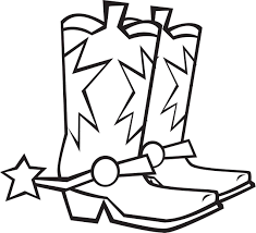 Cowboy Boots And Hat Coloring Page Free Cowboy Boot Coloring Pages